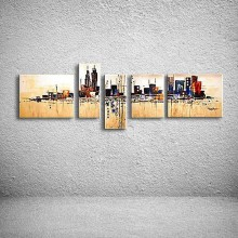 hand painted oil painting on canvas modern abstract City knife painting huge wall art oil painting XD5-115