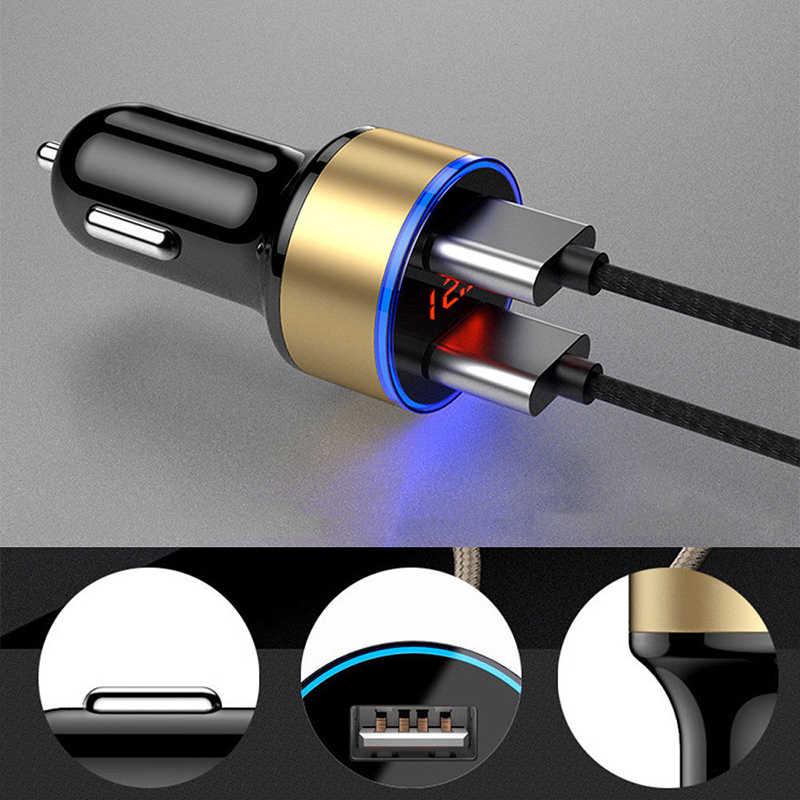 Rovtop Universale Veloce Dual USB Auto Adattatore del Caricatore LED Display 5V 3.1A Sigaretta Presa Accendisigari Auto Dell'automobile del USB Del Telefono caricatore Z2