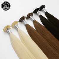 Fairy Remy Hair 1g/s 16 inch 100% Real Remy Fusion Human Hair Extension Keratin Natural Colored Strands Of Hair Capsule 50g/pac
