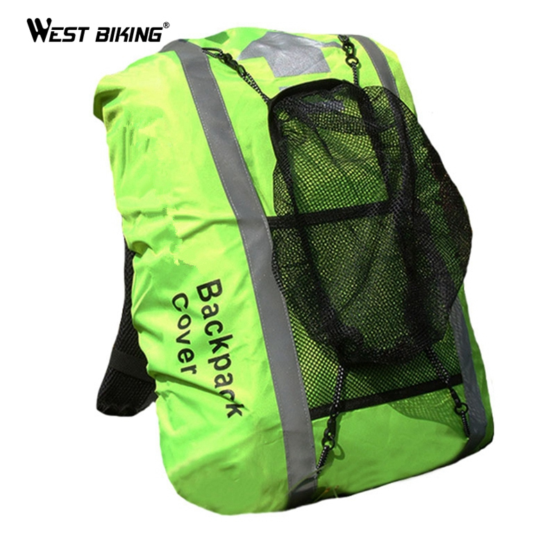 WEST BIKING Waterproof Bicycle Bag 25-40L Cycling Backpack Reflective Ciclismo Rain Cover 40* 50cm Mountain Bikes Bags Raincover west biking 22l long journey travelling climbing cycling backpack sport waterproof mtb bag mountain bike bicycle riding bags