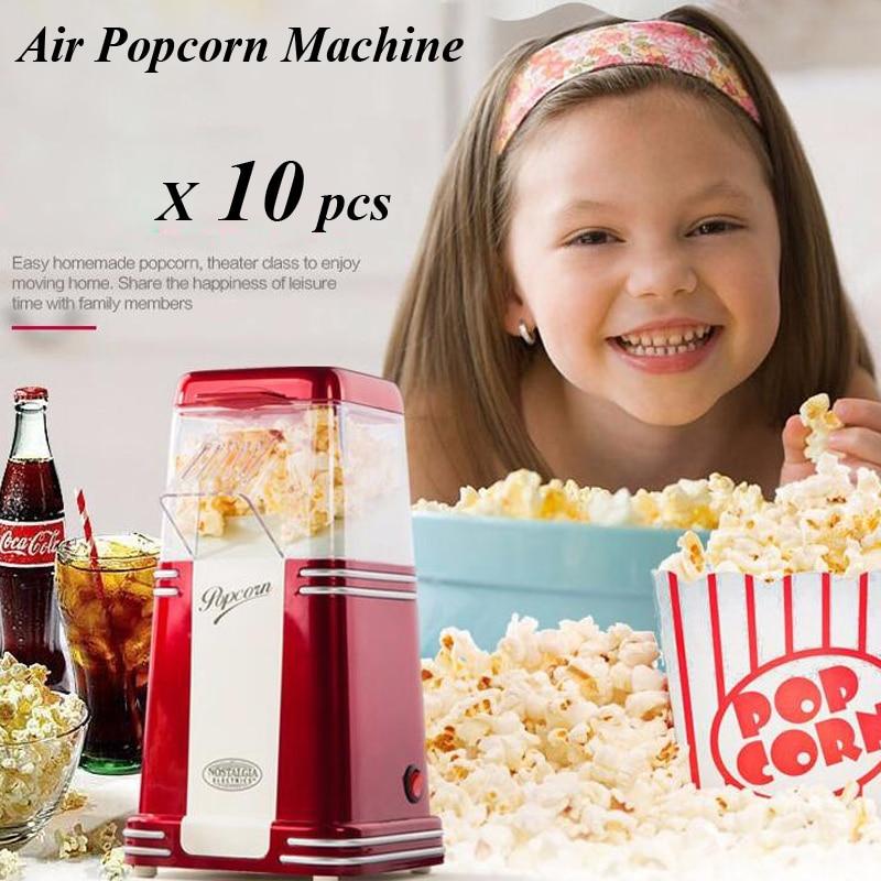 ФОТО 10pcs/lot Classic Mini Popcorn Maker Household Automatic Electric Hot Air Popcorn Machine RHP 310