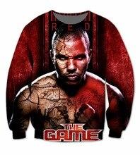 Echt AMERIKANISCHE UNS Größe 3D sublimationsdruck Crewneck Sweatshirt Rot Blut-Das Spiel fleece streetwear plus größe