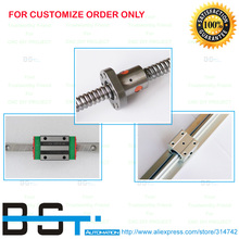 Rail-Support Cable-Chain Ballscrew Linear SBR16 DIY:RM1605 for CNC Assemble Plastic Customize-Order