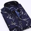 2017 Новая весна мужская с длинными рукавами рубашки вскользь рубашка шаблон многоцветные дополнительный