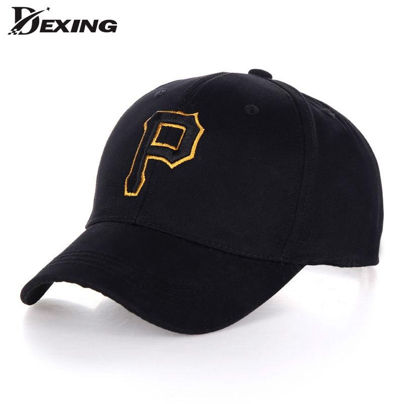 Prix pour [Dexing] broderie lettre Courbe casquette de baseball pour hommes coton casual snapback casquettes Chapeau de soleil pour femmes gorras
