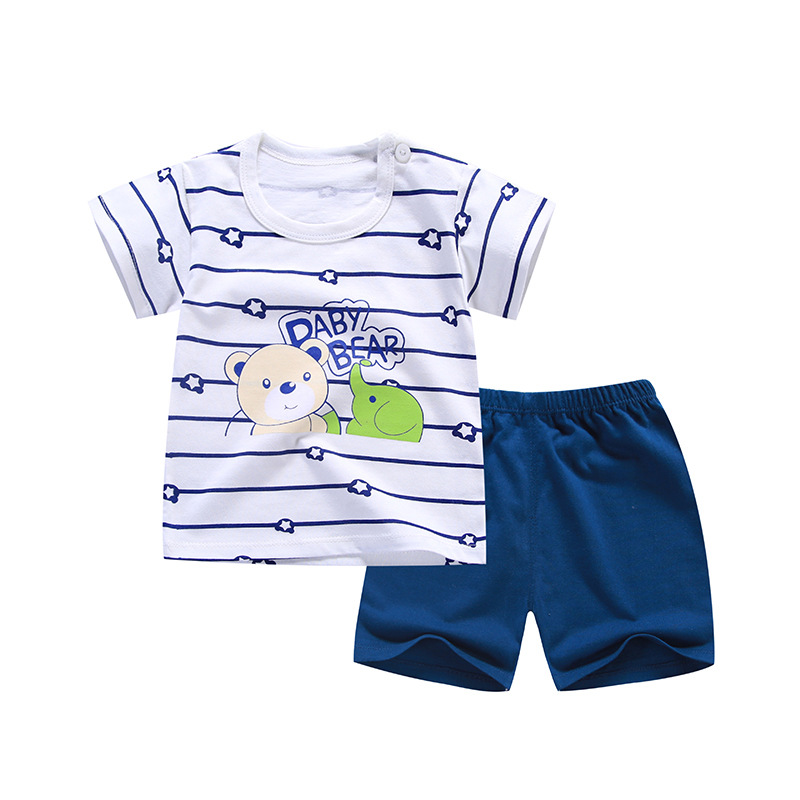 2018 Cartoon Baby Boy Clothing Set Infant Clothes Baby Girls Clothing Cotton Short Sleeve Baby Boy Clothes Summer Style