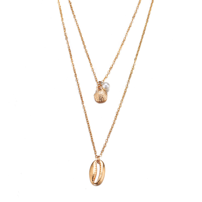 Многослойный Кристалл лунные ожерелья и кулоны для женщин винтажное очаровательное Золотое колье ожерелье богемное ювелирное изделие - Окраска металла: FCS922
