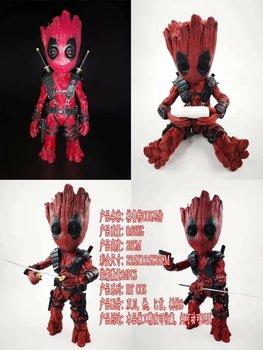 Marvel Guardians of The Galaxy Avengers Tree Man as X-men Deadpool BJD Action Figure Model Toys