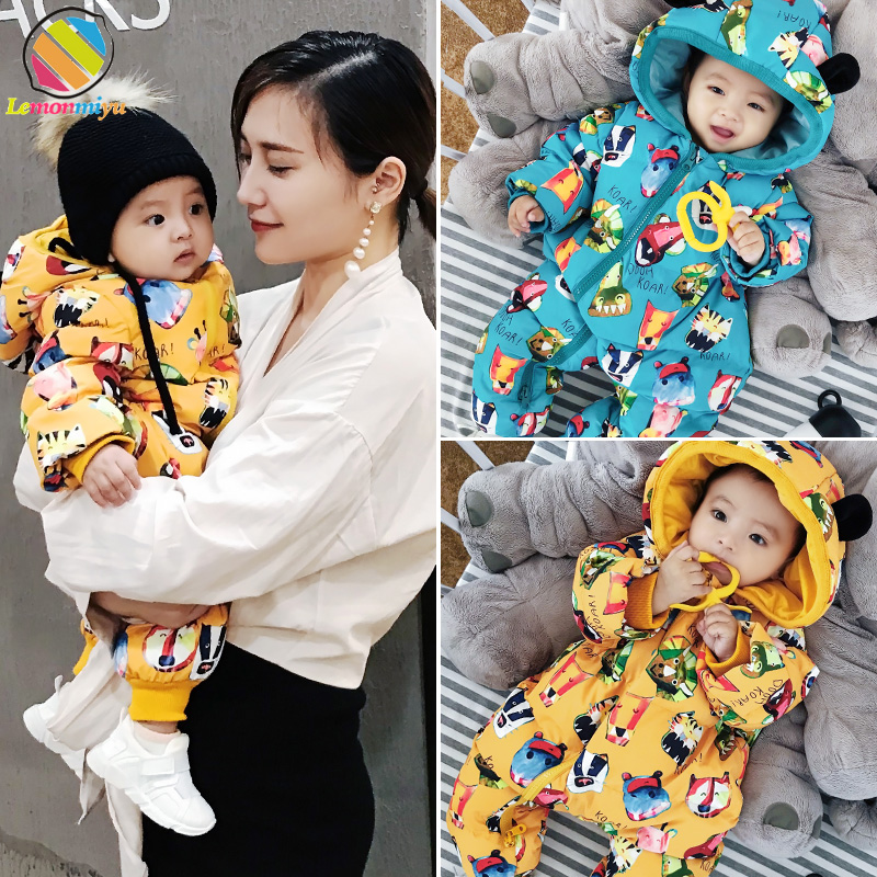 Lemonmiyu, Baby, Winter, Overalls, Thicken, One-Piece