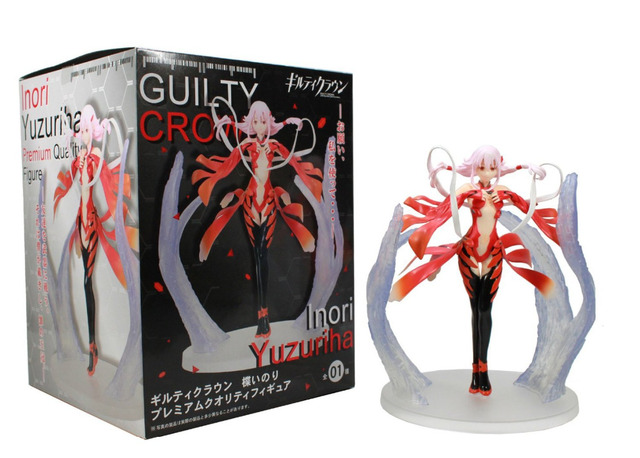 18cm Anime Guilty Crown Inori Yuzuriha Japanese Action Figures PVC Collection Model toys for christmas gift