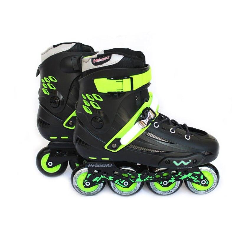 Patins de vitesse En ligne Slalom professionnel glisse Quad Skate chaussures Patines En Linea bon comme Seba patins à roulettes adulte IA60