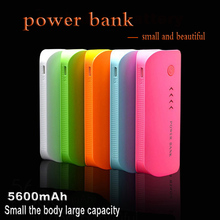 Power Bank Настоящее 5600 мАч USB Внешние Мобильные Резервного Копирования Powerbank Аккумулятор для iPhone iPod iPad мобильный Телефон Универсальное Зарядное Устройство