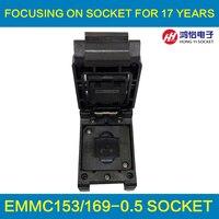 EMMC153 169 To DIP48 Test Socket IC Body Size 14x18mm Pin Pitch 0 5mm BGA169 BGA153