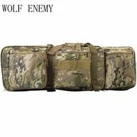 85センチ新しい戦術重いスリップ運ぶデュアルライフルケースガンバッグ用m4狩猟エアガンミリタリーショル