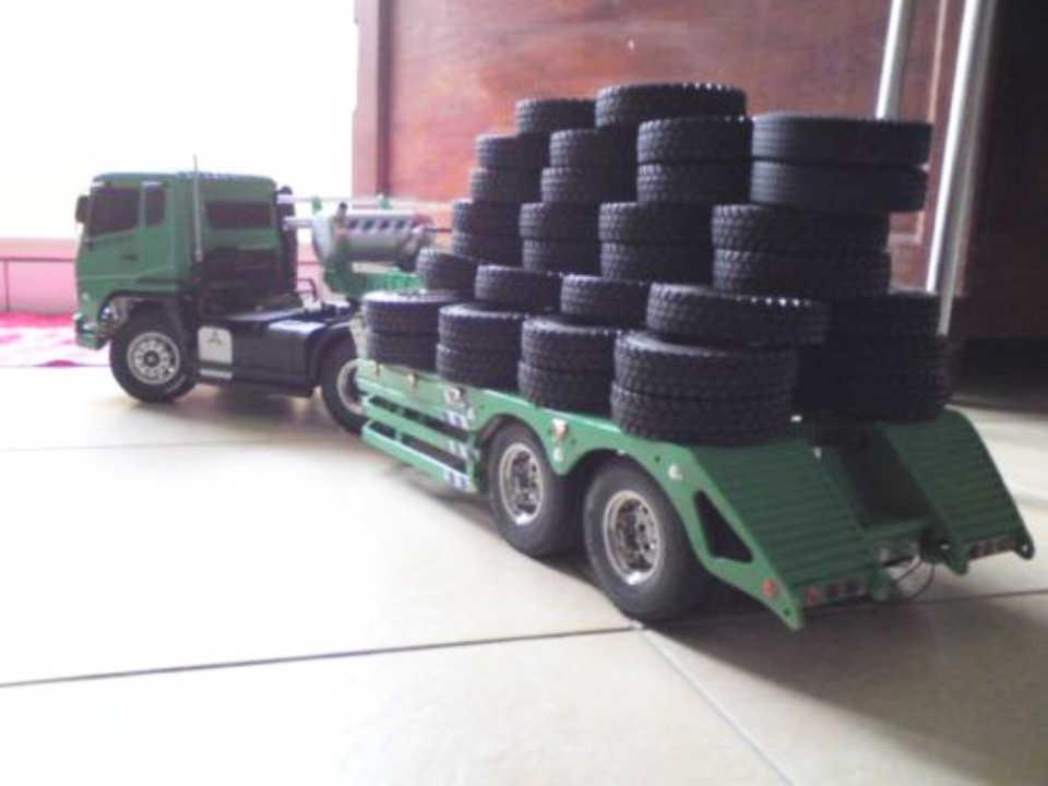Untuk Tamiya 1:14 Truk Traktor Trailer Mendaki Mobil Ban Karet Ban 4 Pcs Set