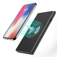 Wireless Charger Power Bank Tech Care 8000mAh 3 in 1 Fast Charging Power Bank Qi Wireless Battery Pack Portable Charger