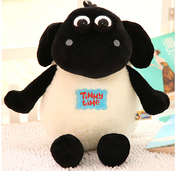 Candice Guo Newest Arrival Super Cute Plush Toy Timmy Time Sheep Stuffed Doll Fat Lamp Birthday
