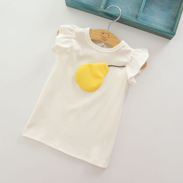 421a58f6aa 2018 verano nuevo estilo niñas de algodón de manga corta t-shirt moda lindo  hermoso bebé niño niños camisetas