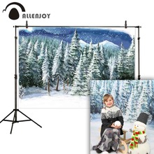 Allenjoy photophone photocall winter forest cold painting snowflake child studio background photography backdrops photobooth