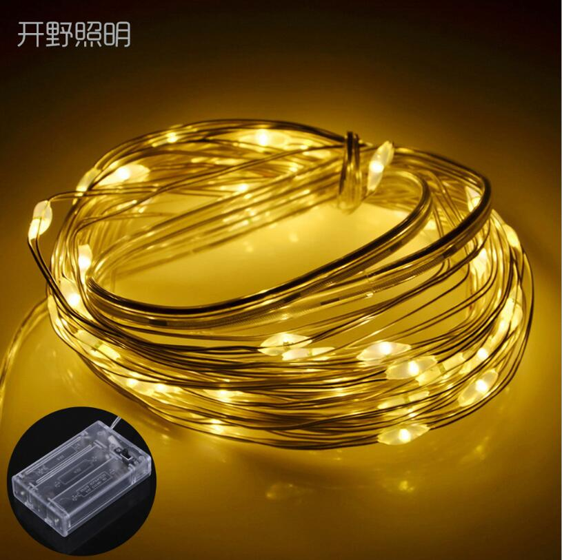 2M 5M Copper Wire LED String Lights Holiday Lighting Fairy Garland For Christmas Tree Wedding Party Decoration