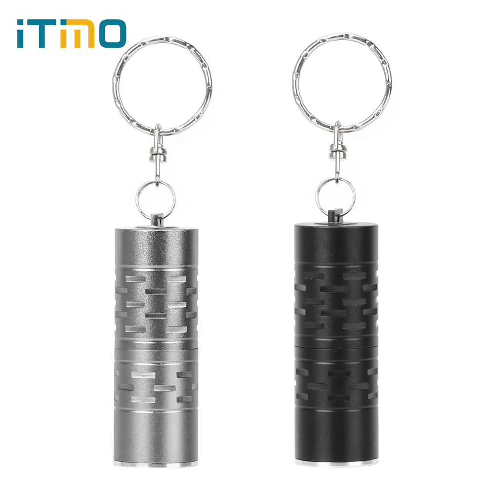ITimo Waterproof Pocket Flashlight Mini Keychain 1600 Lumens Portable LED Mini Flashlight Outdoor Light Non-slip