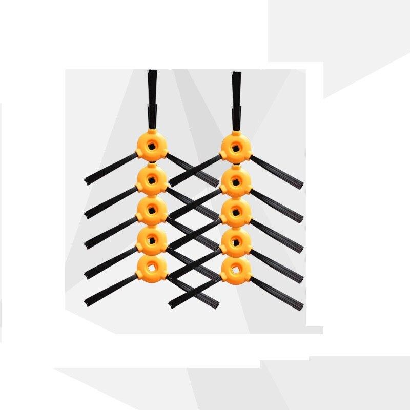 Шт. 10 шт. сбоку кисточки для CONGA EXCELLENCE DEEBOT N79S N79 Робот Запчасти пылесоса Замена