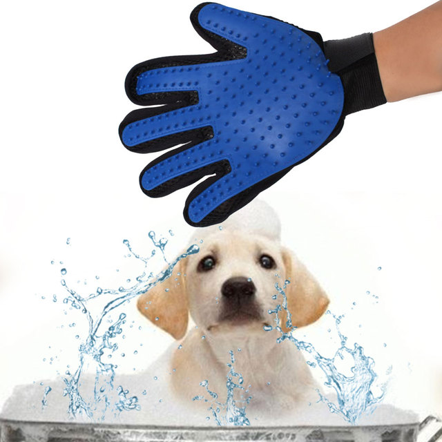 Silicone Gentle Efficient Pet Brush Gloves