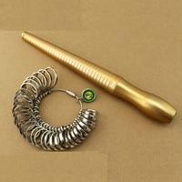 Free Shipping Ring Mandrel Sizer Set Metal Finger Ring Gauge Size Measurement 1 33 HK Size