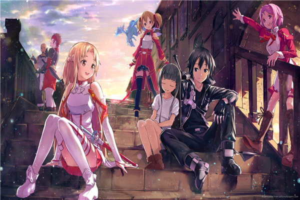 Custom Canvas Posters Sword Art Online Poster Sword Art Online Game Wall Stickers Anime Kids Wallpapers Home Decoration #PN#367#