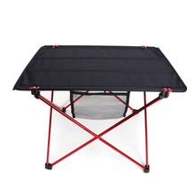 Outdoor Folding Ultra-light Aluminum Alloy Portable Camping Picnic Table(China)