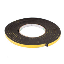 Uxcell 1PCS 8mm x 5mm Single Sided Black, Yellow Self Adhesive Shockproof Sponge Foam Tape 3 M Length Insulation Hot Sale