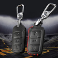 car 3 buttons remote key case For volkswagen vw passat b6 b7 Scirocco CC genuine leather key holder accessories