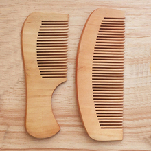 Anti-Static Pocket Wooden Comb Peach Wood Hair Salon Styling Tools Hairdressing Care Barbers Handle Brush 14cm