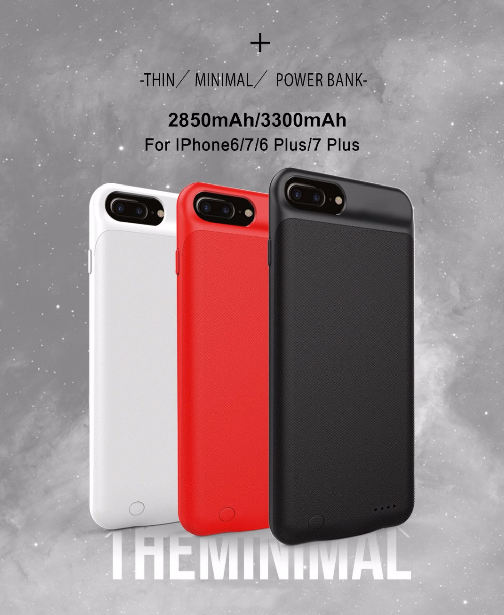 new concept 46715 b3ae5 US $27.99 |In All 3300 mAh Smart Battery Case For Apple iPhone 8 Plus 7  Plus Charger Cover For iPhone 6s Plus Capa Carregador Power Funda-in  Battery ...