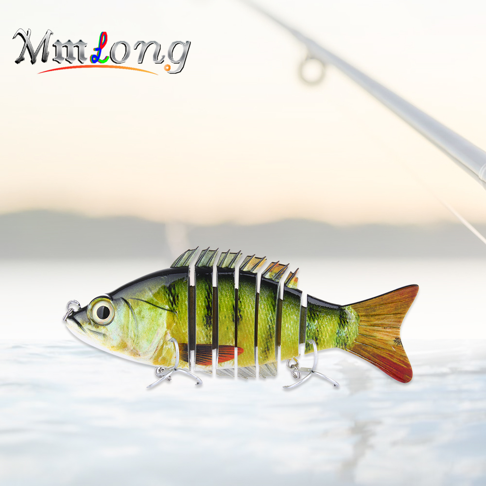 Mmlong 15cm Wobbler Fishing Lure Artificial Bait AL08B 59g 7 Segements Isca Sea Pike Swimbait Slowly Sinking Fish Tackle Pesca