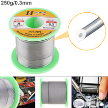 63/37 B-1 250g 0.3mm-2.0mm No-clean Rosin Core Solder Wires with 2.0% Flux and Low Melting Point for Electric Soldering Iron