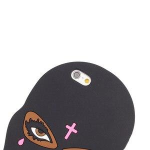 Силиконовый чехол-маска для iPhone 11 Pro Max 7 Plus 8 6 6s 4S 5 5S SE 2020 X XR XS Girl Tear Cute Phone Back Cover Case Dolls