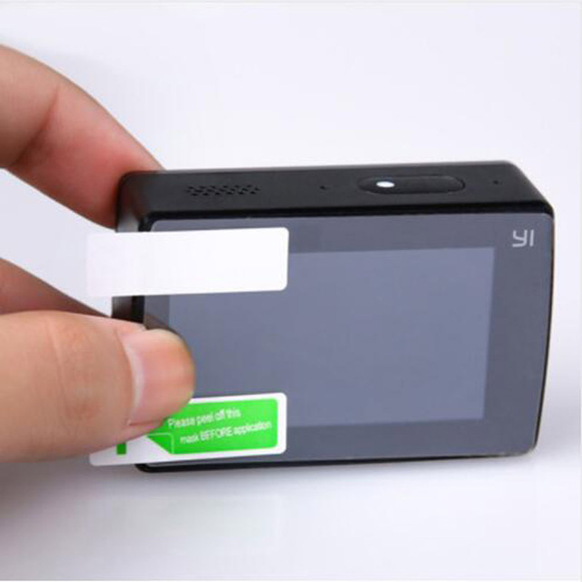 2 adet LCD ekran ekran koruyucu PET net Film Guard Xiaomi YI 4K Xiaoyi 2 II artı 4K + Lite Discovery eylem spor kamera