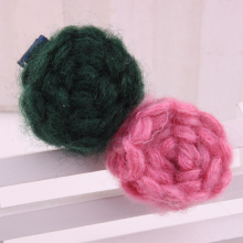 12pcs/lot Newest korean style quality knitting wool curly flower hair barrettes Baby girls beautiful hairpins
