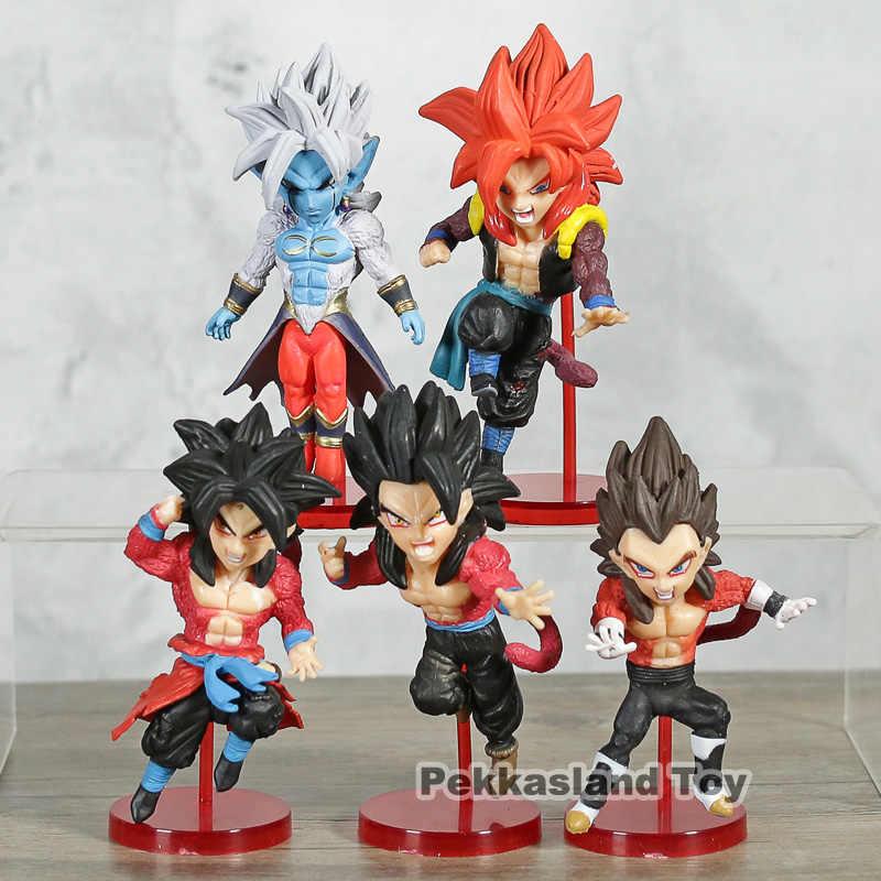 WCF Super 4 Heróis Vol.3 Super Saiyan Dragon Ball Son Goku Gohan Vegeta Gogeta Mira PVC Figuras Brinquedos 5 pçs/set
