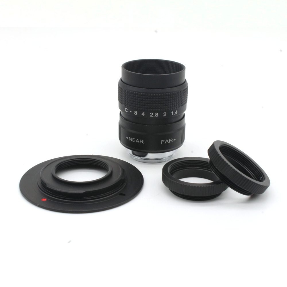 hot sale 25mm F1.4 fujian CCTV Movie lens + c Mount for Sony Nex +c marco ring image