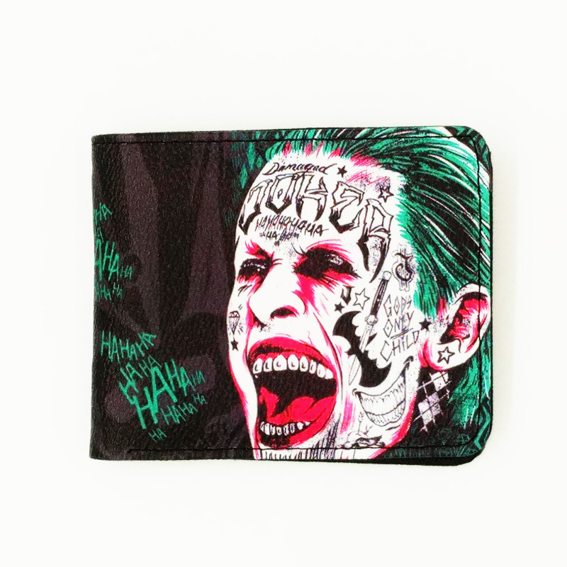 woman man purse famous movie Suicide Squad Fight Club jaws funs wallets cartable Mens Wallet with Coin Pocketwoman man purse famous movie Suicide Squad Fight Club jaws funs wallets cartable Mens Wallet with Coin Pocket