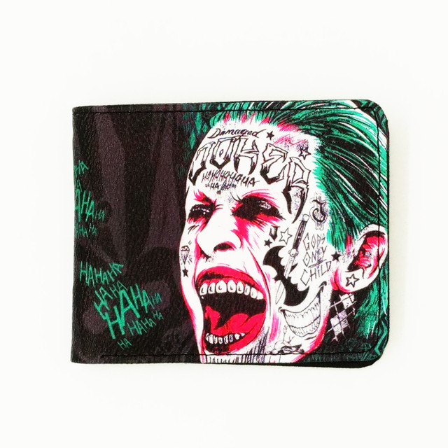 woman man purse famous movie Suicide Squad Fight Club jaws funs' wallets cartable Mens Wallet with Coin Pocket Kids Wallets