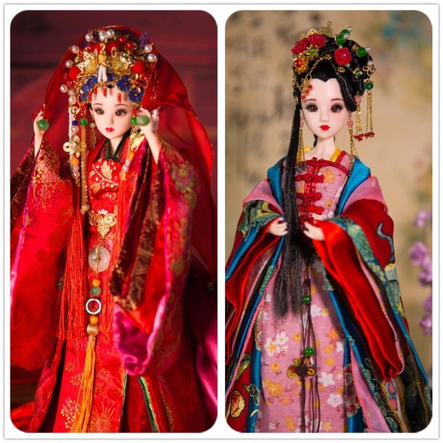 Free shipping factory Doll Joint Body East Charm Chinese Style With Clothes, Stand & Box  F&D toys professional design