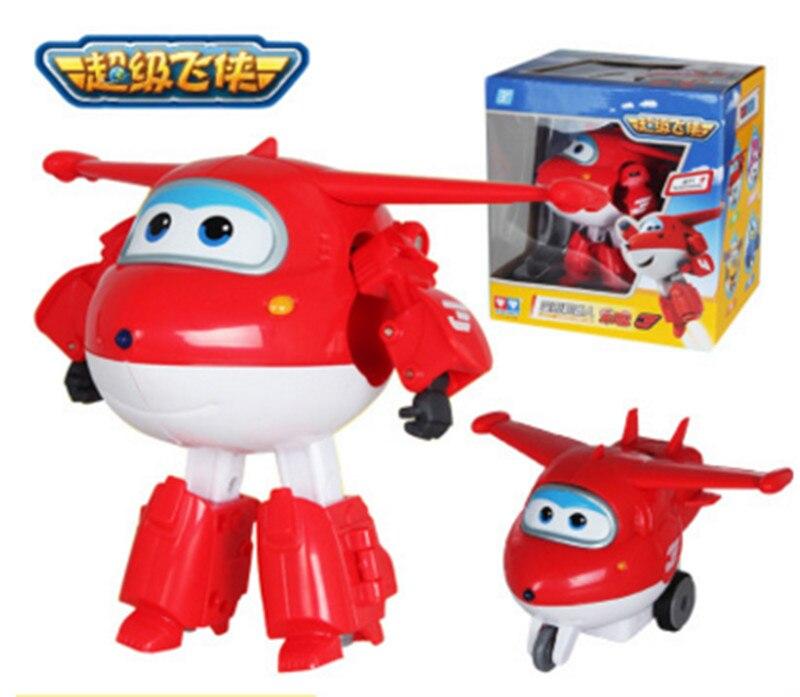 Grote Maat Super Vleugels Vervorming Vliegtuig Robot Speelgoed voor Baby Kids Novelty Actiefiguren Speelgoed Cadeau Voor Kinderen