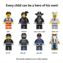 Для Legoing герои фильма Модель Строительство наборы цифры emmet wyldstyle робо модель SWAT строительные блоки кирпичные игрушки Фигурки