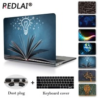 Redlai Printed Hard Cover Case Sleeve For Apple Macbook Pro Retina 12 13.3 15.4 Air 13 11 INCH New Pro 13 with Touch Bar A1706