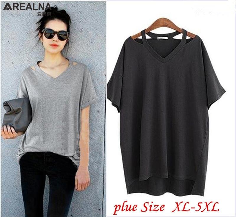 ¡Venta caliente! Camisas Femininas 2018 Mujeres de talla grande Ropa de verano de algodón ocasional flojo falso de dos mangas de la camiseta Tops femeninos Blusas