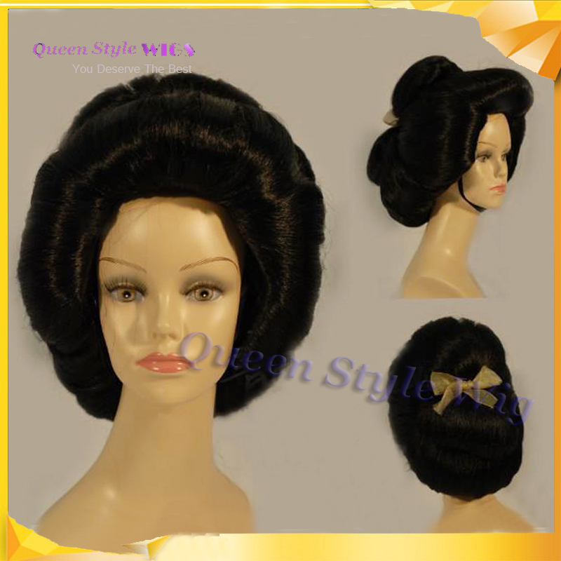 Hot Sexy Japan Singer Hairstyle Wig Synthetic Japanese Geisha