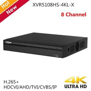 Видеорегистратор Dahua, 8 каналов, разрешение H.265, 4k, поддержка HDCVI, AHD, TVI, CVBS, IP